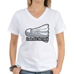 Shuttlecock! Women's V-Neck T-Shirt