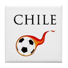 Chile Soccer Tile Coaster