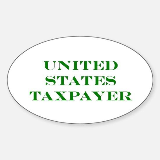 US Taxpayer Sticker (Oval)
