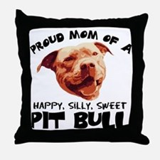 Happy Silly Sweet Throw Pillow