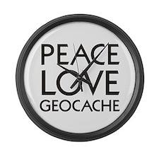 Unique Geocache Large Wall Clock