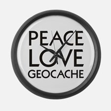 Geocaching Large Wall Clock