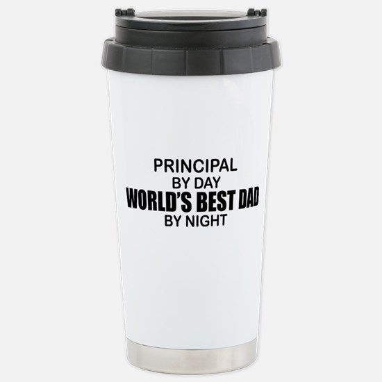 World's Best Dad - Principal Stainless Steel Trave