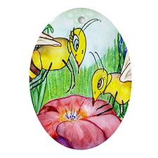 Honey Bee Ornament (Oval)