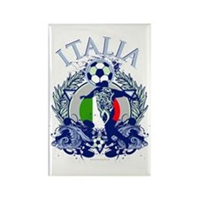 Italia Soccer Rectangle Magnet