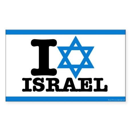 I STAR ISRAEL Sticker (Rectangle) 5x3 inches