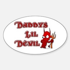 Daddy's Lil Devil Oval Decal