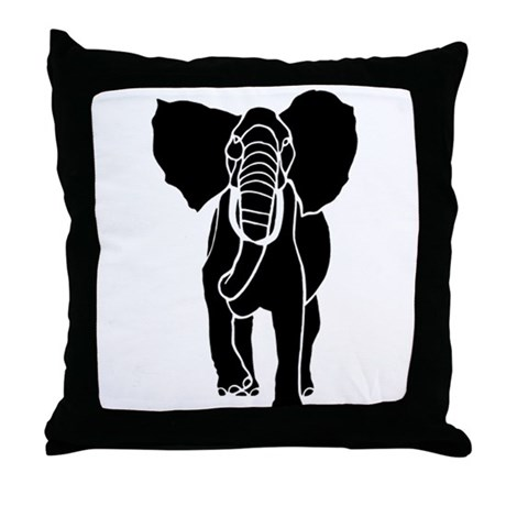 Malawi Elephant Throw Pillow : Elephant Throw Pillow by petdrawings