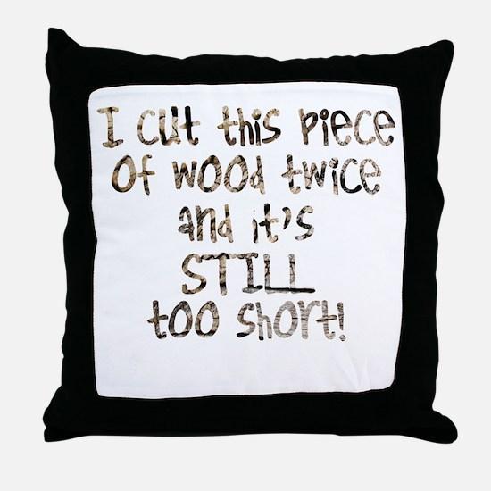 Cute Woodworking Throw Pillow
