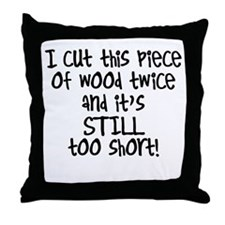 Cute Wood cutting Throw Pillow