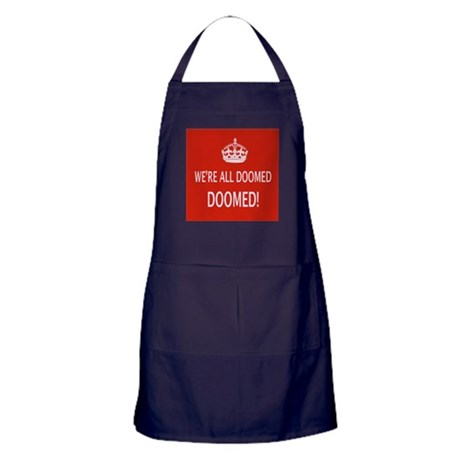 WE'RE ALL DOOMED Apron (dark)
