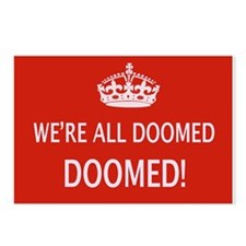 WE'RE ALL DOOMED Postcards (Package of 8)