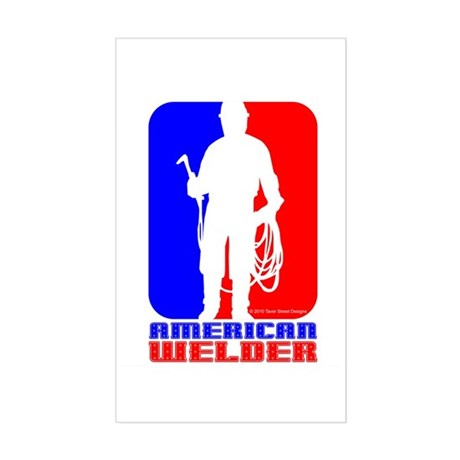 American Welder Sticker (Rectangle)