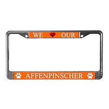 Orange We Love Our Affenpinscher Frame