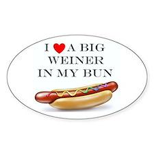 I Love Weiner Stickers