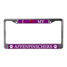 Purple I Love My Affenpinschers Frame