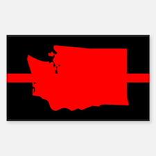 Washington Thin Red Line Sticker (Rectangle)