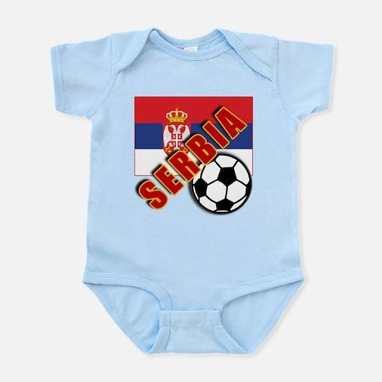 World Soccer SERBIA Team T-shirts Infant Bodysuit