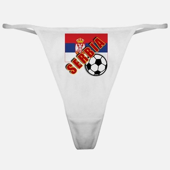 World Soccer SERBIA Team T-shirts Classic Thong