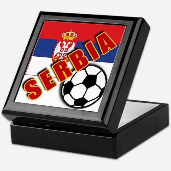 World Soccer SERBIA Team T-shirts Keepsake Box