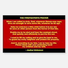 Firefighters Prayer - Firemans Prayer Decal