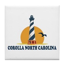 Corolla NC - Lighthouse Design Tile Coaster