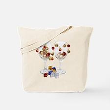 Cheerful Wine Glasses Tote Bag