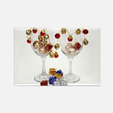 Cheerful Wine Glasses Rectangle Magnet