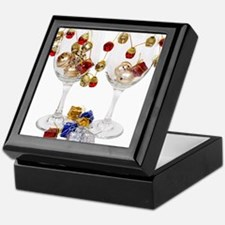 Cheerful Wine Glasses Keepsake Box