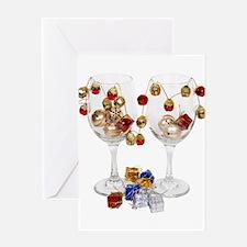 Cheerful Wine Glasses Greeting Card