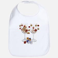 Cheerful Wine Glasses Bib