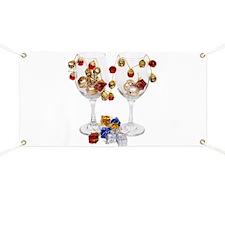 Cheerful Wine Glasses Banner