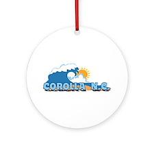 Corolla NC - Waves Design Ornament (Round)