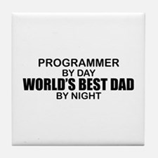 World's Best Dad - Programmer Tile Coaster