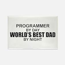 World's Best Dad - Programmer Rectangle Magnet