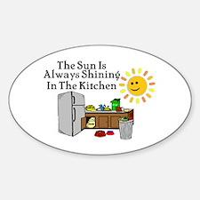 Sunny Kitchen Sticker (Oval)