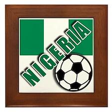 World Soccer NIGERIA Framed Tile