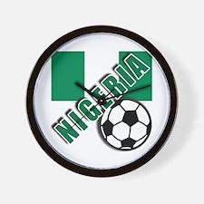 World Soccer NIGERIA Wall Clock
