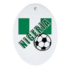 World Soccer NIGERIA Ornament (Oval)