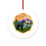 Giant Schnauzer Christmas Fantasy Ornament (Round)
