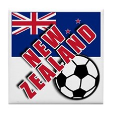 NEW ZEALAND Soccer Tile Coaster