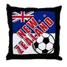 NEW ZEALAND Soccer Throw Pillow