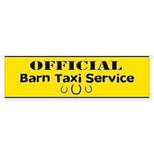Barn Taxi Service Bumper Bumper Sticker