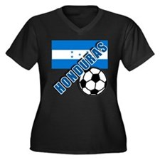 World Soccer Honduras Women's Plus Size V-Neck Dar