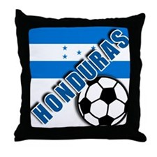 World Soccer Honduras Throw Pillow