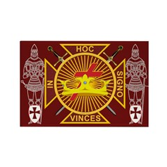 Masonic Knights Templar Rectangle Magnet (100 pac