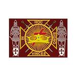 Masonic Knights Templar Rectangle Magnet