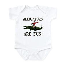 ALLIGATORS ARE FUN ! Infant Bodysuit