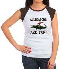 ALLIGATORS ARE FUN ! Women's Cap Sleeve T-Shirt