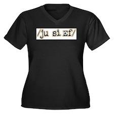 Unique Speech Women's Plus Size V-Neck Dark T-Shirt